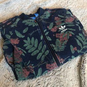 floral adidas track jacket